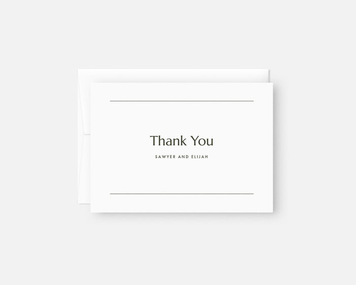Memo Thank You Notes - Black