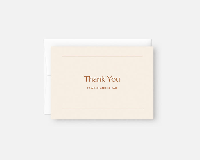 Memo Thank You Notes - Orange