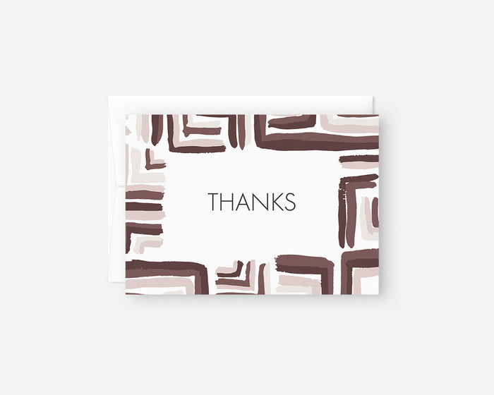 burgundy patterned thank you notes