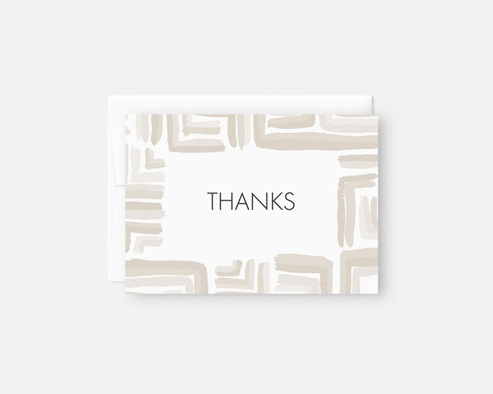 neutral patterned thank you notes