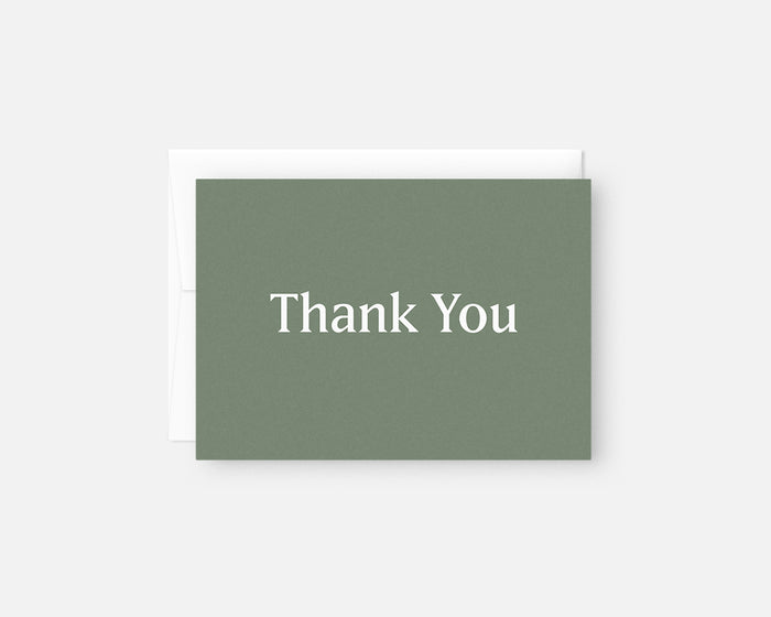 Simple Thank You Notes - Green