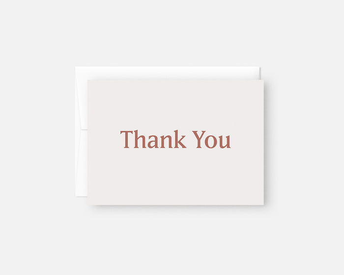 Simple Thank You Notes - Rose