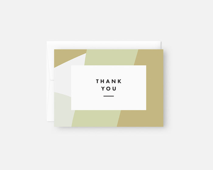 green modern thank you notes