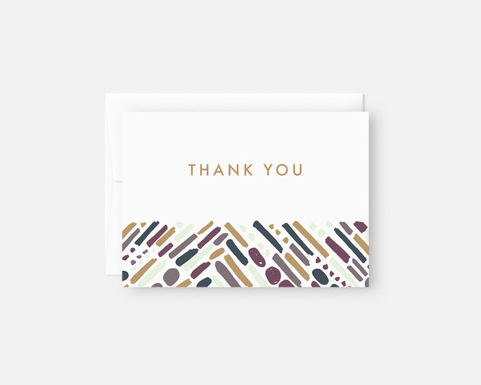 colorful modern thank you notes