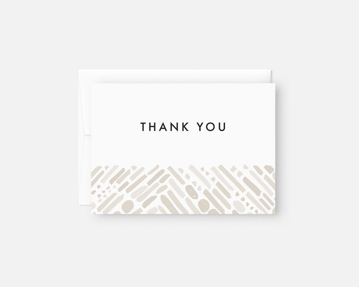 neutral modern thank you notes