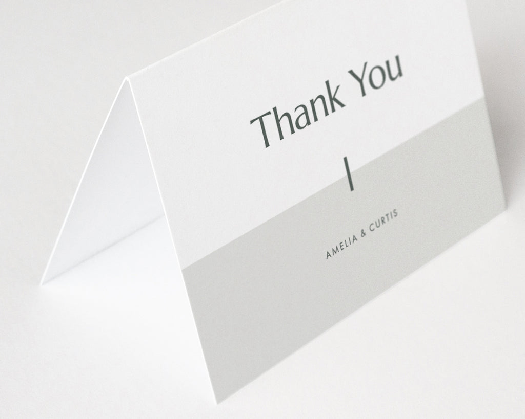 Color Block Thank You Notes - Green