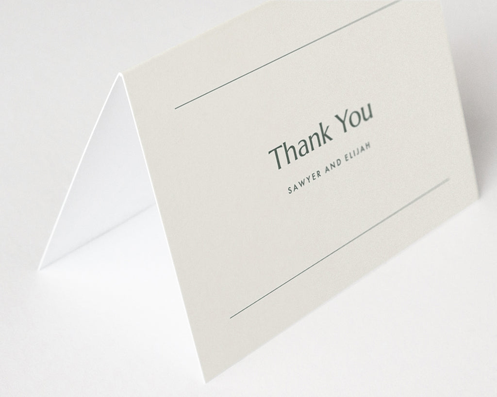 Memo Thank You Notes - Green