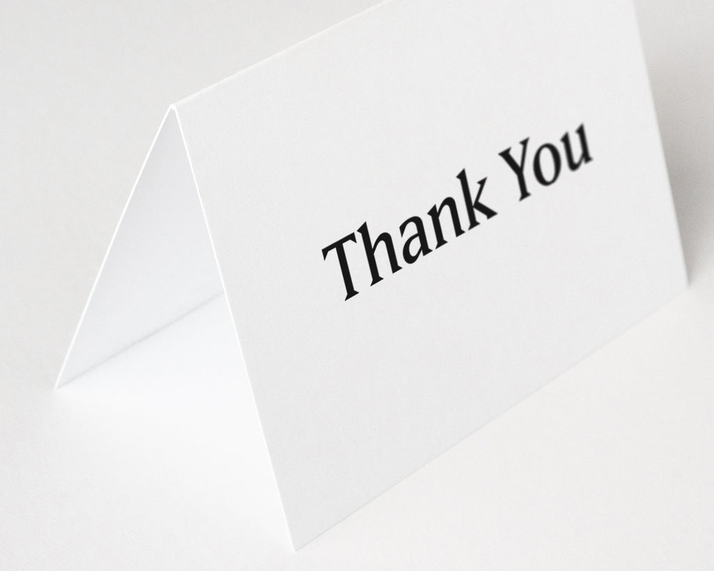 Simple Thank You Notes - Black