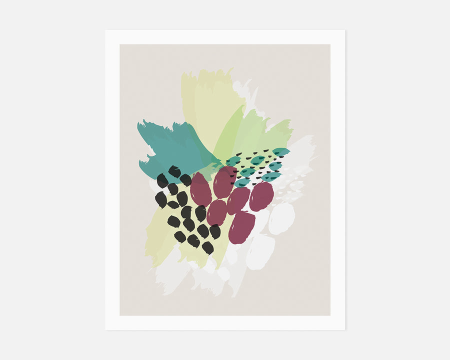 Bouquet Art Print - Green