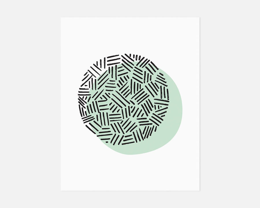 Eclipse Art Print - Mint