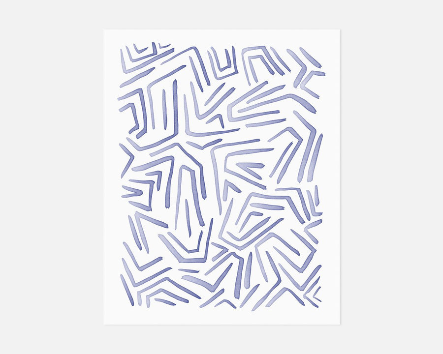 Flux Art Print - Blue