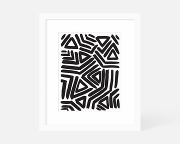 Angular Art Print - Black