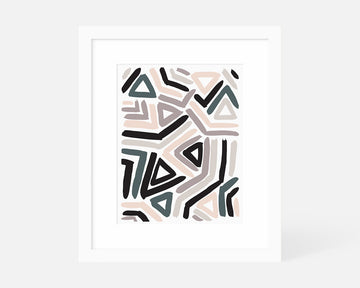 Angular Art Print - Pastel