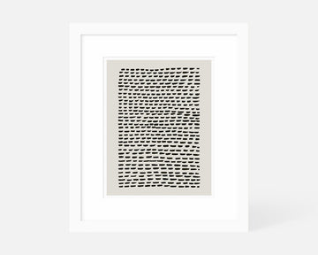 Bricks Art Print - Taupe