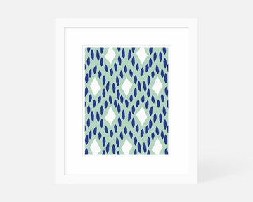 Diamond II Art Print - Blue