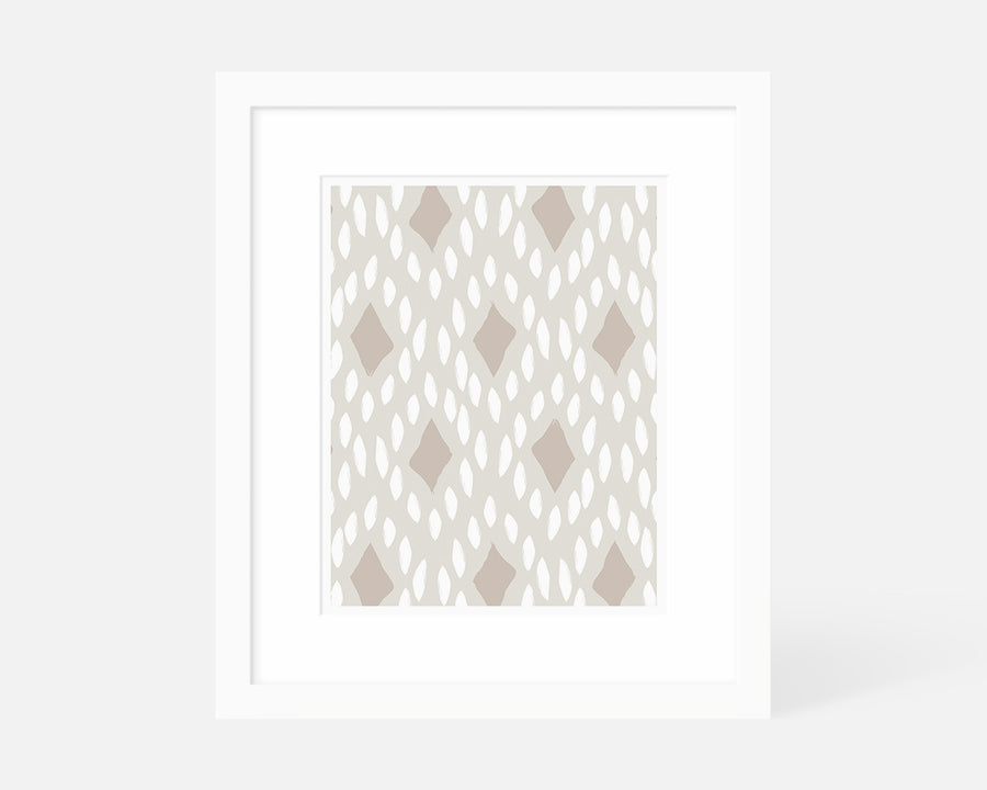 Diamond II Art Print - Taupe