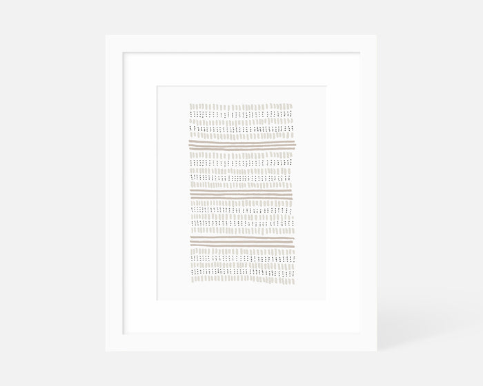 neutral minimalist art print with white frame