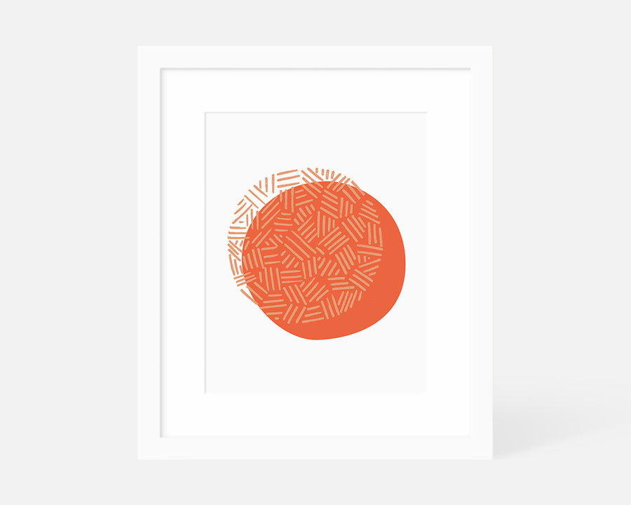 Eclipse Art Print - Coral