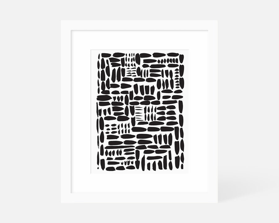 Gridlock Art Print - Black