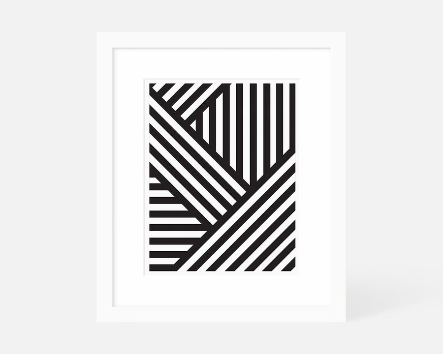 Interlocking Stripes Art Print