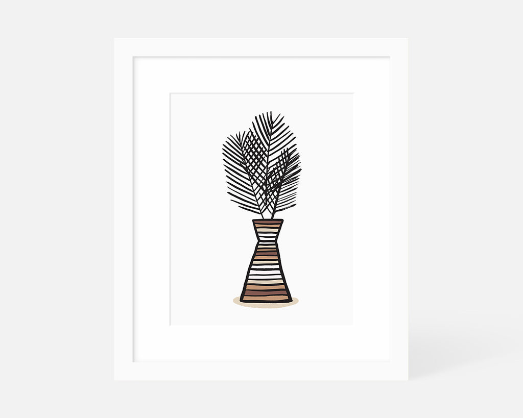 Potted Palm Leaves Art Print