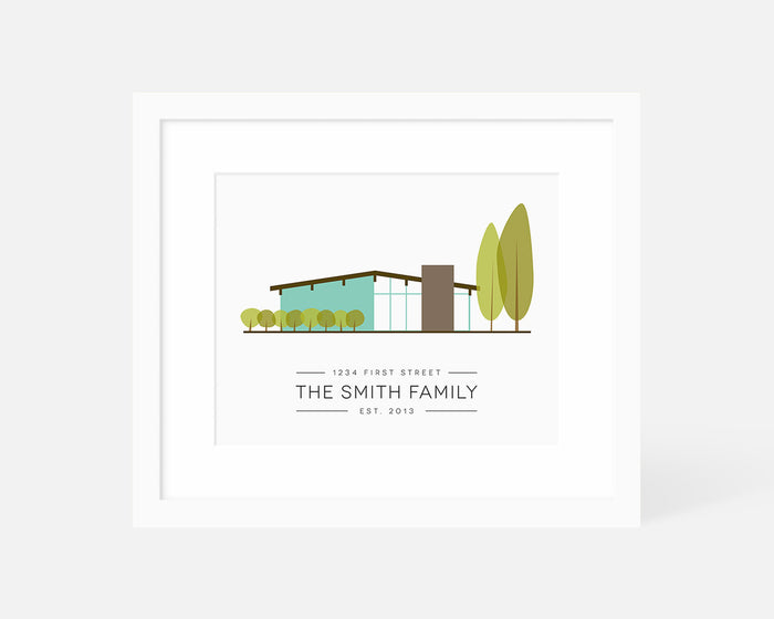 Personalized House Art Print