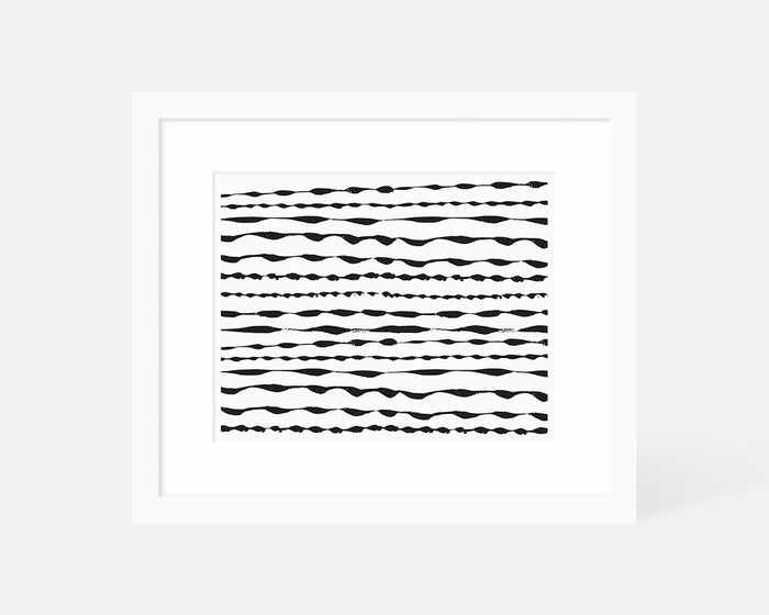 Ripple Art Print - Black