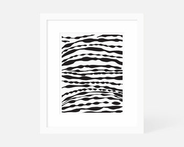 Ripple II Art Print - Black
