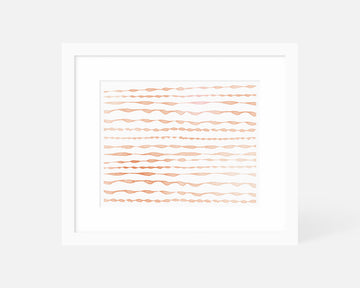 Ripple Art Print - Orange