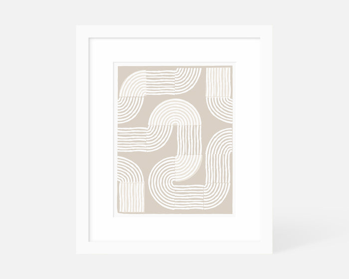 Road Trip Art Print - Neutral
