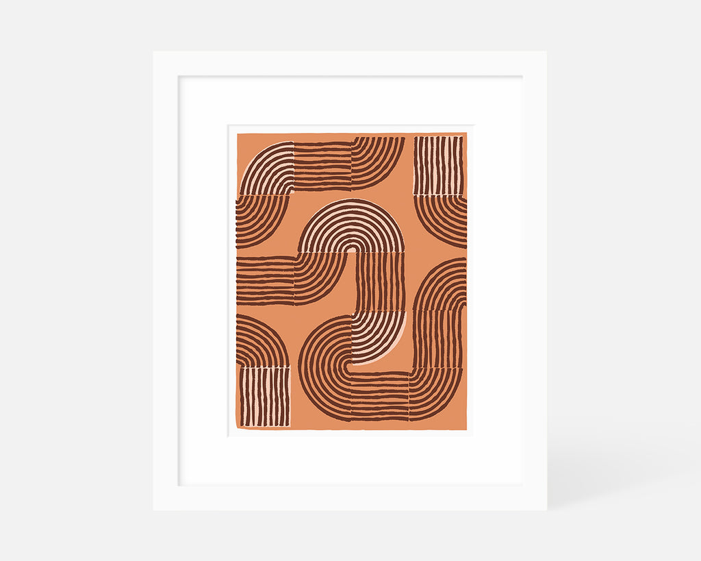 Road Trip Art Print - Orange
