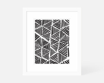 Striped Triangle Art Print