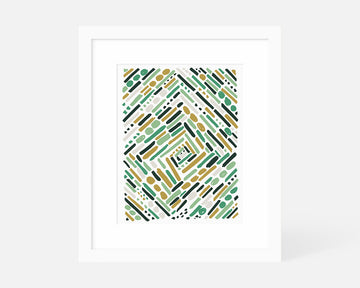 Tunnel Art Print - Green