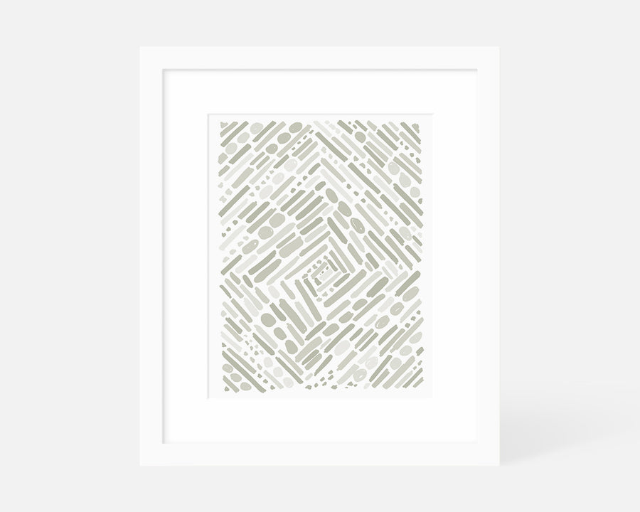 Tunnel Art Print - Gray