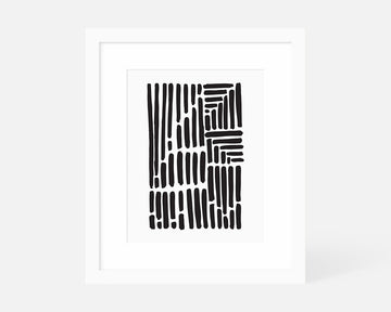 Volume Art Print - Black
