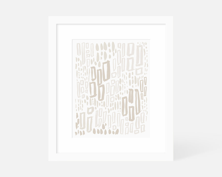 Windows Art Print - Taupe