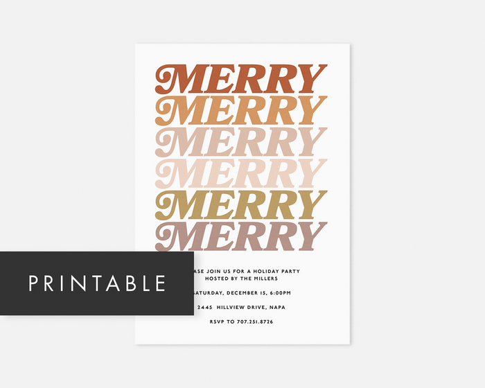 Merry Merry Invitation [Printable]
