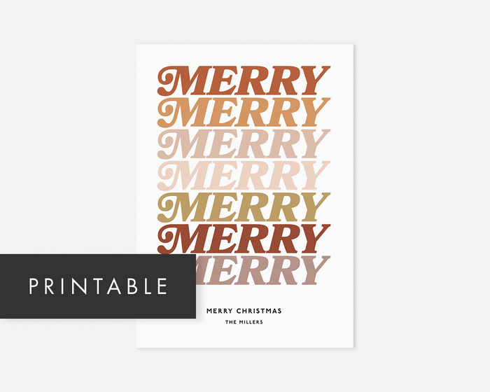 Merry Merry Holiday Card [Printable]