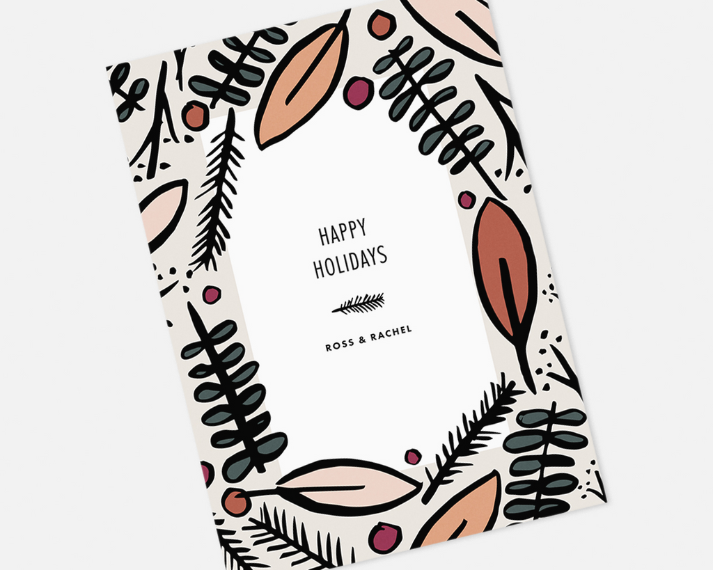 Foliage holiday Card [Printable]