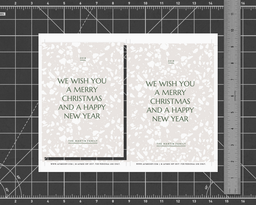 Terrazzo Holiday Card [Printable]