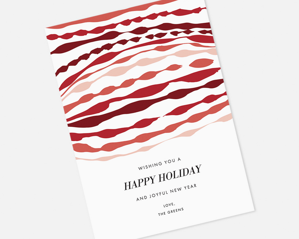 Ripple Holiday Card - Red [Printable]