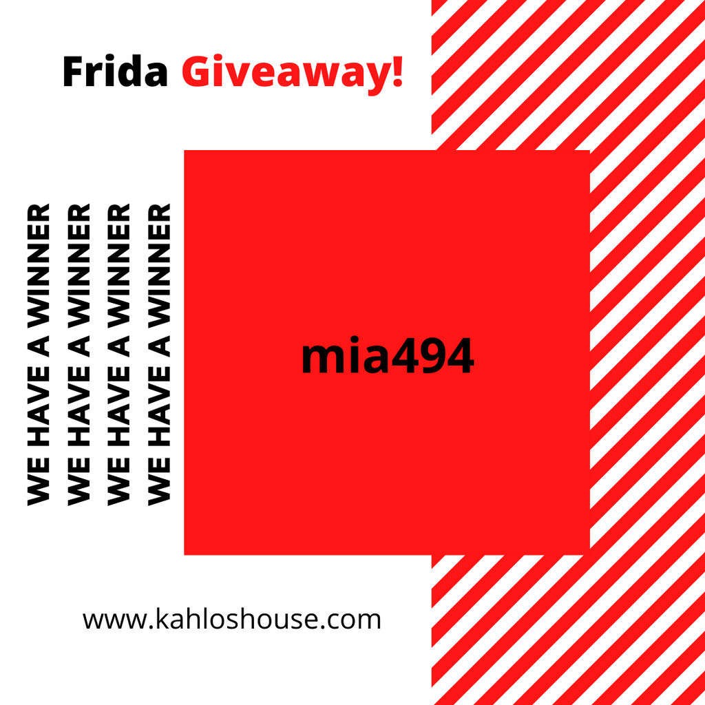 We have winner of our Frida giveaway!