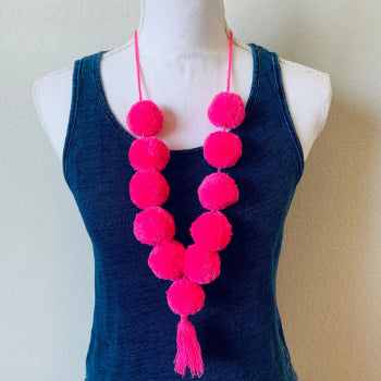 Chiapas boho pom poms Necklace