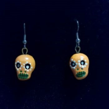 Day of the Dead - Skull Earrings by Amatl.