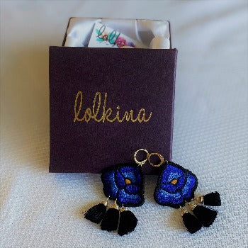 Lolkina Mexican Embroidered Earrings