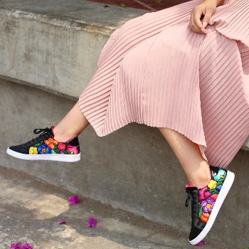 Lolkina Frida Mexican Embroidered Sneakers
