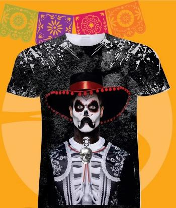 Day Of The Dead Shirt In Men's T-Shirts
