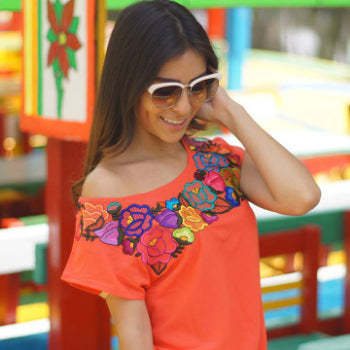 Lolkina Mexican Embroidered Blouse