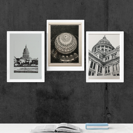Texas State Capitol  Drawing by Roben Taglienti - tag+art