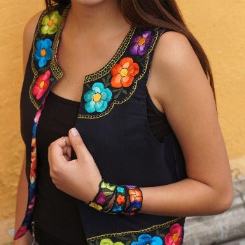 Mexican Lolkina Embroidered Vest